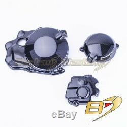 2011-2015 ZX-10R Carbon Fiber Engine Clutch Cover Crash Guard Slider Set