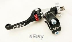 ASV Unbreakable F4 Black Shorty Clutch Brake Levers Dust Covers Kit CR CRF XR
