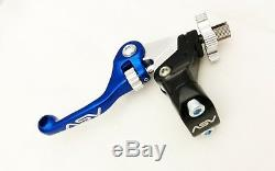ASV Unbreakable F4 Blue Shorty Clutch + Brake Levers Kit Dust Covers KLX 140L