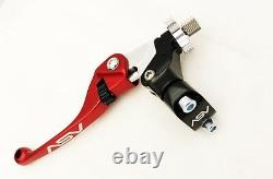 ASV Unbreakable F4 Red Clutch + Brake Levers Kit Dust Covers CRF250R CRF450R