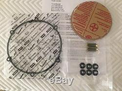 Aprilia Dorsoduro 750 Clear Clutch Cover Kit 08-12 Black & Gold Titanium Screws