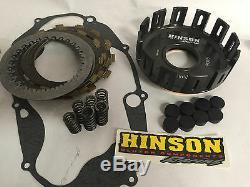 Banshee Hinson Billet Clutch Basket Fiber Steel Plates Cushion Cover Gasket Kit