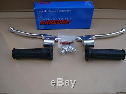 Bultaco Sherpa Lever Kit Clutch Brake Lever N Cover + Grips Alpina Pursang Front