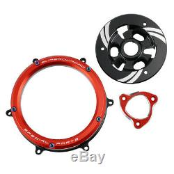 CNC Clear Clutch Cover Spring Retainer Kit For Ducati Panigale 959 1199 1299