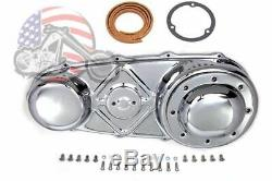 Chrome Outer Primary Cover Hardware Gasket Derby Clutch Kit Harley Panhead 74