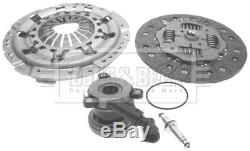 Clutch Kit 3pc (Cover+Plate+CSC) HKT1490 Borg & Beck Genuine Quality Guaranteed