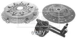 Clutch Kit 3pc (Cover+Plate+CSC) fits FORD FIESTA Mk6 1.6D 2008 on B&B Quality
