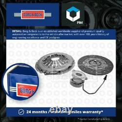 Clutch Kit 3pc (Cover+Plate+CSC) fits VAUXHALL ASTRA H 1.3D 2005 on Z13DTH B&B