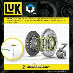 Clutch Kit 3pc (Cover+Plate+CSC) fits VAUXHALL INSIGNIA A 1.8 08 to 17 220mm LuK