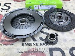 Clutch Kit 3pc (Cover+Plate+Releaser) fits FIAT DUCATO 244 2.3 D 02 to 11 Valeo