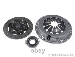 Clutch Kit 3pc (Cover+Plate+Releaser) fits VAUXHALL CALIBRA C89 2.0 90 to 94 QH