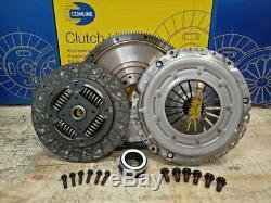 Clutch Kit Solid Flywheel Incl Bolts For Vw Volkswagen Golf 1.9 Tdi Mkv Mk5