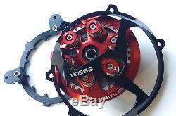 DUCATI CLUTCH COVER PRESSURE PLATE INNER HUB KIT Ducati 6 SPEED Engine RED