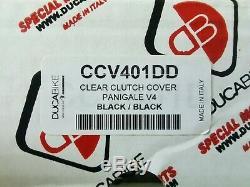 Ducabike Ducati Panigale V4 Clear Clutch Cover kit CCV401DD PSF04A SM01D