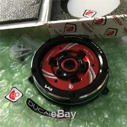 Ducati Panigale V4 2018 2019 Clear Clutch Cover Kit Ducabike CCV401 BLK-RED-BLK