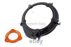 EVOTECH Cover Clutch Pressure Plate Orange Black Silver KTM 1290 Super Duke R
