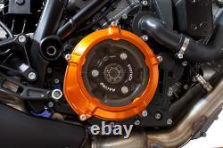 EVOTECH Set Cover Clutch+Pressure Plate Orange Black Silver KTM Engine LC8