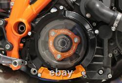 EVOTECH Set Cover Clutch+Pressure Plate + Protection KTM Engine LC8