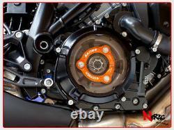 EVOTECH Set Kurbelgehäuse Schwarz Orange Schutz Kupplung KTM 1290 Superduke R /