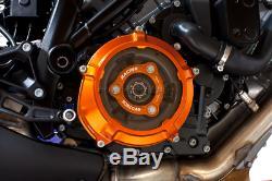 Evotech Carter Frizione + Spingidisco Arancio Nero Silver Ktm 1290 Super Duke Gt