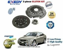 FOR LEXUS IS200 2.0i 1G-FE 1999-2005 NEW PLATE COVER BEARING 3 PIECE CLUTCH KIT