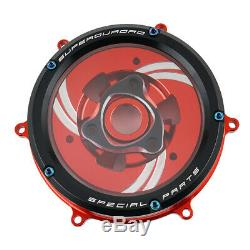 For Ducati Panigale Clear Clutch Cover Kit 959 1199 1299 Panigale R S 2012-2019