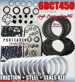 Gearbox Friction Steel Seals Kit Powershift Ford Volvo 6DCT450 MPS6 Wet Clutch