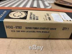 Harley Davidson Springer Timer & Derby Cover Kit Birch White 94543-97AV