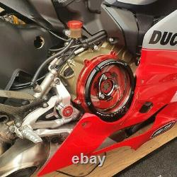New Racing Clear Clutch Cover Spring Retainer Kit For Ducati Panigale V2 2020