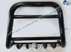 Trafic Vivaro Primastar Black Bull Bar Axle Nudge Push Grill A-bar 2001-2014 New