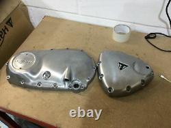Triumph Bonneville Bobber, T120 Brushed Engine Cover Kit Cover 2016-20