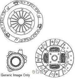 VAUXHALL ZAFIRA B 1.9D Clutch Kit 3pc (Cover+Plate+CSC) 05 to 14 7061471RMP NAP