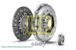 VW CADDY 1.6D Clutch Kit 3pc (Cover+Plate+Releaser) 10 to 15 LuK 02A141165A New
